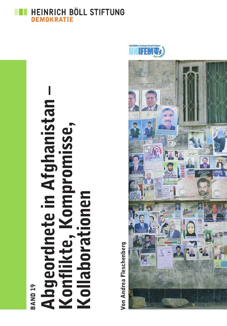 Schriftenreihe Demokratie:  Abgeordnete in Afghanistan