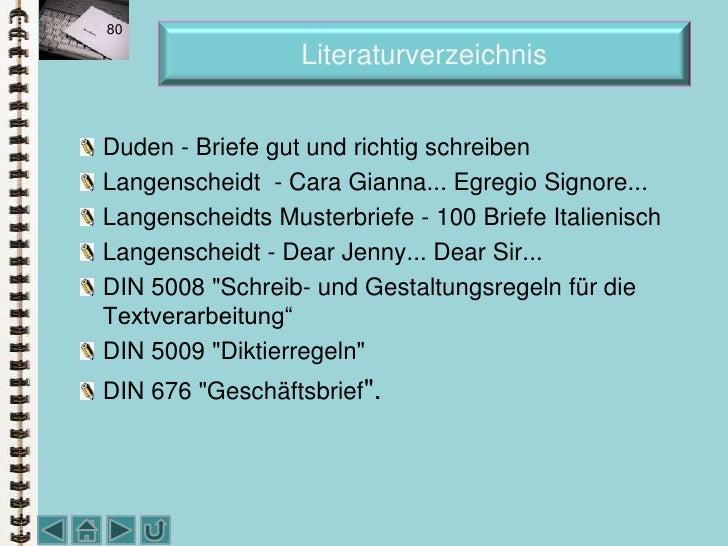 Schriftverkehr Deutsch Unditalienischoktober 2010