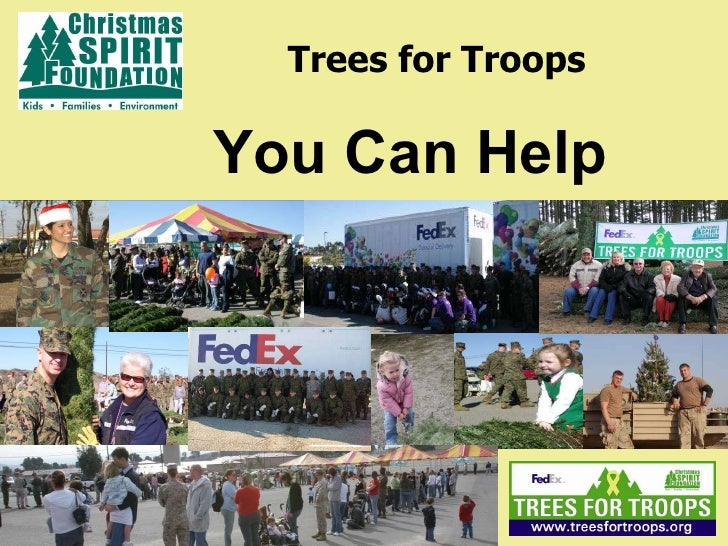 Trees for Troops You Can Help