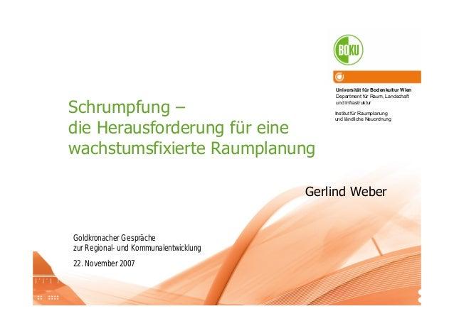 Universität für Bodenkultur Wien Department für Raum, Landschaft und Infrastruktur Institut für Raumplanung und ländliche ...