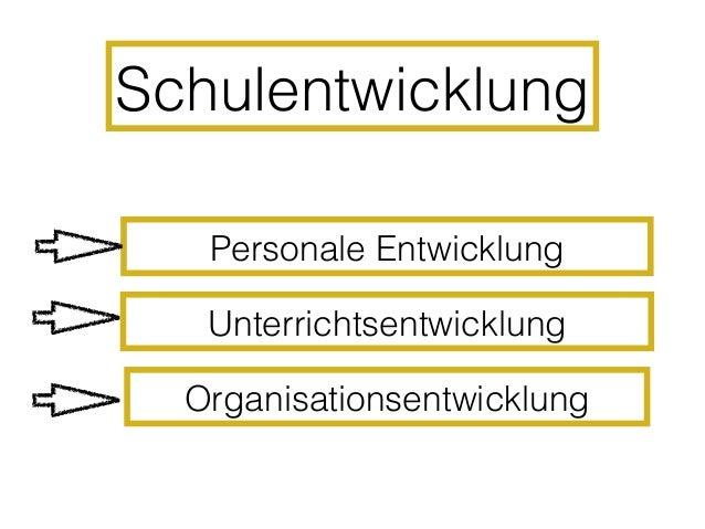 Personale Entwicklung• individuelle Ebene der Organisation• fachlich- didaktisches  Handlungsrepertoire• Reflexion und Fee...