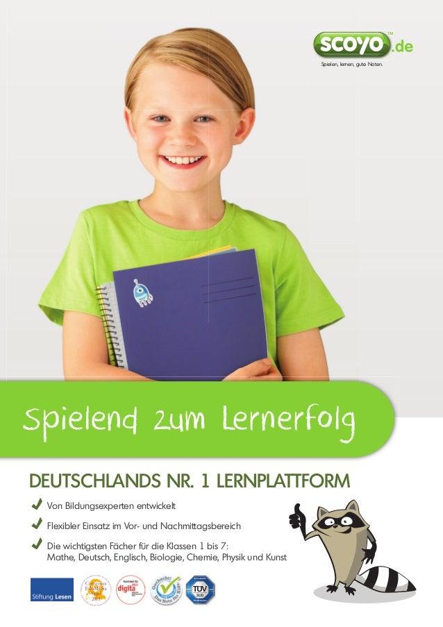 Spielen, lernen, gute Noten.  Spielend zum Lernerfolg dEutschlands nr. 1 lErnplattform Von Bildungsexperten entwickelt Fle...