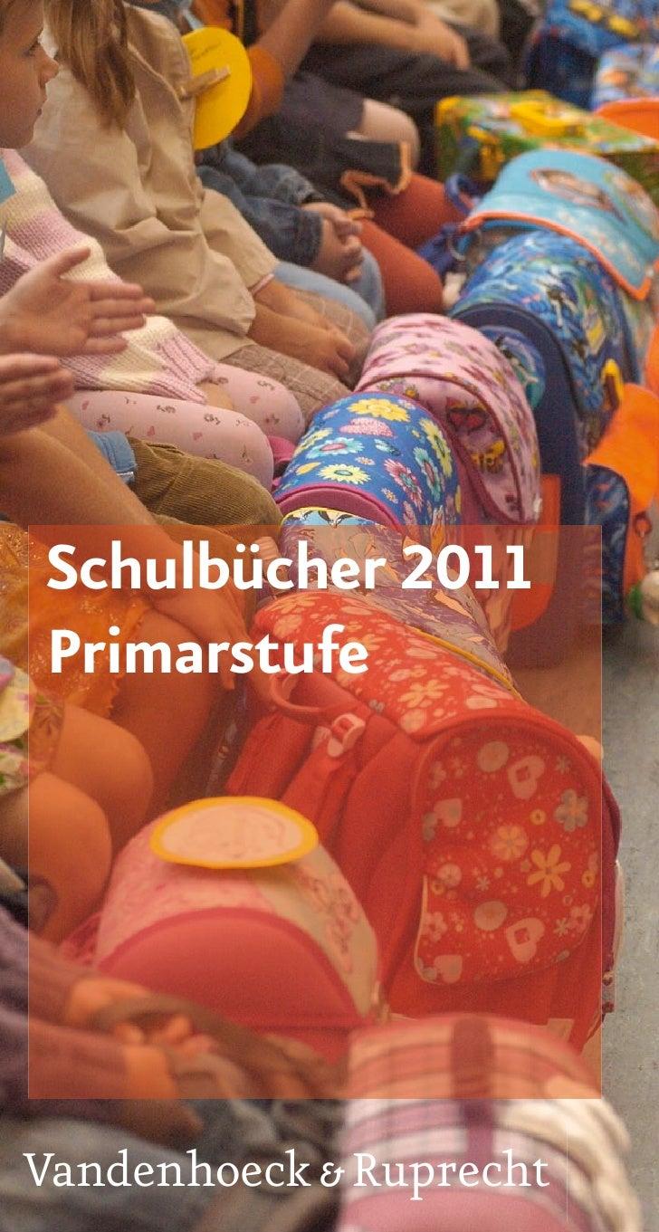 Schulbücher 2011 Primarstufe     Vandenhoeck & Ruprecht
