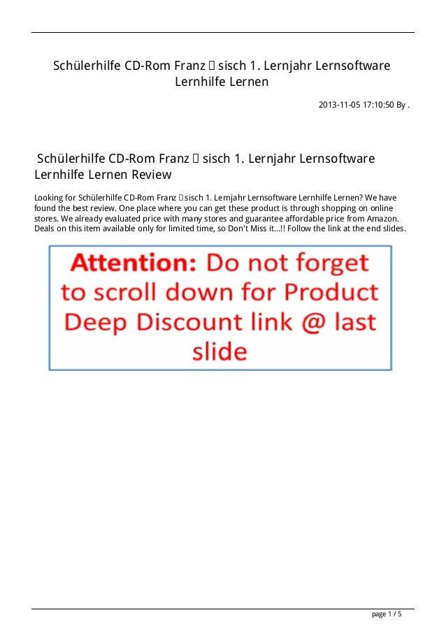 Schülerhilfe CD-Rom Französisch 1. Lernjahr Lernsoftware Lernhilfe Lernen 2013-11-05 17:10:50 By .  Schülerhilfe CD-Rom Fr...