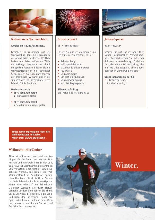 Kulinarische Weihnachten  Silvesterpaket  Januar Special  Anreise am 19./20./21.12.2014  ab 7 Tage buchbar  02.01.–06.01.1...