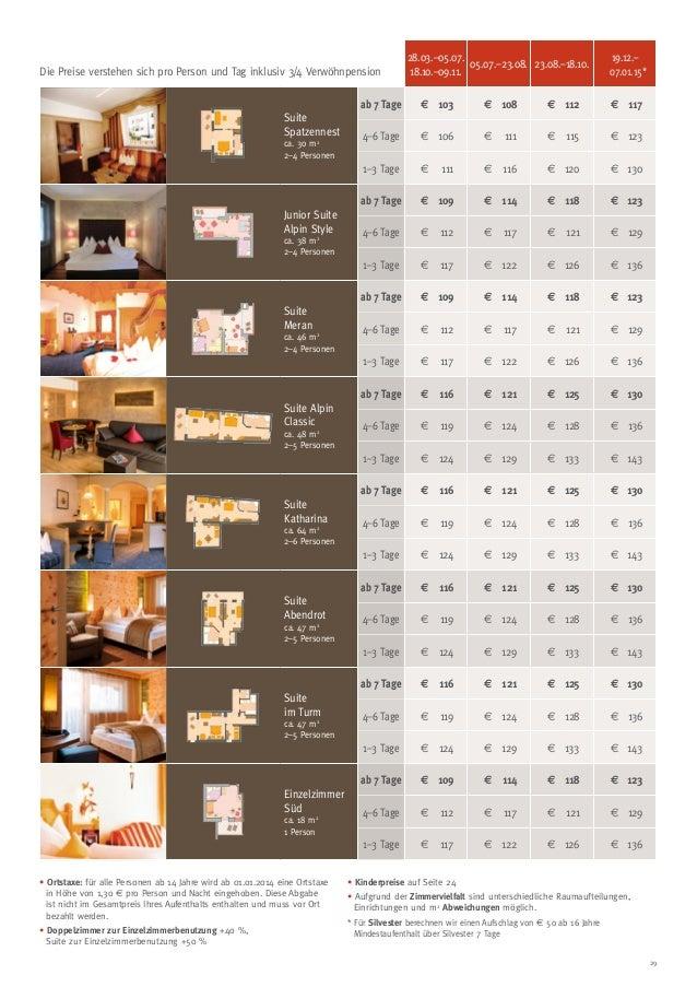Die Preise verstehen sich pro Person und Tag inklusiv 3/4 Verwöhnpension  28.03.–05.07. 05.07.–23.08. 23.08.–18.10. 18.10....