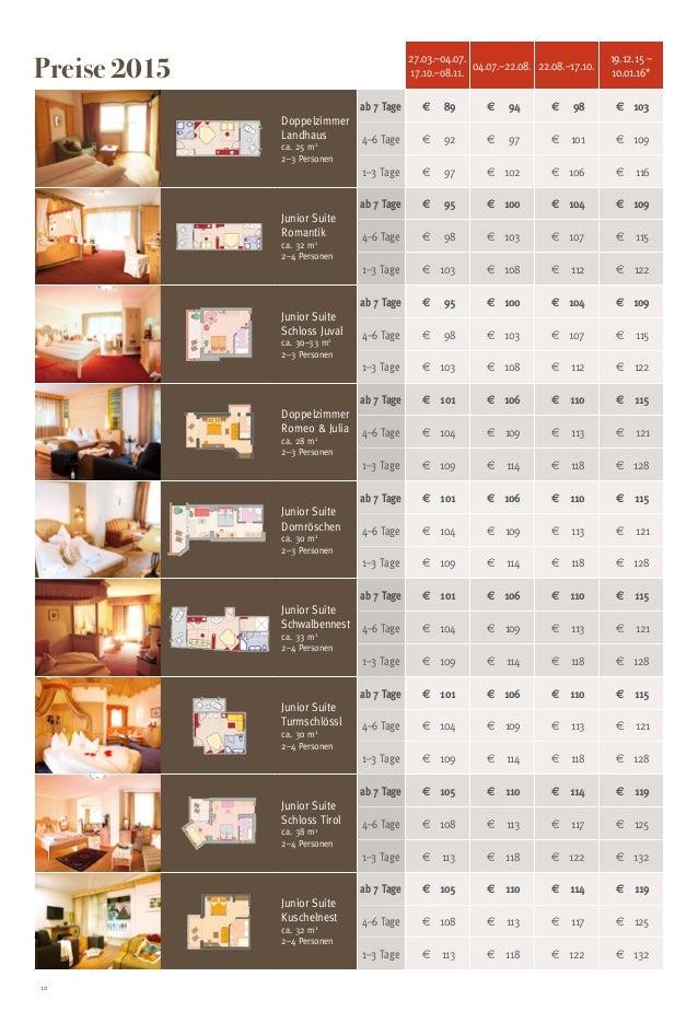 10 27.03.–04.07. 17.10.–08.11. 04.07.–22.08. 22.08.–17.10. 19.12.15 – 10.01.16* Doppelzimmer Landhaus ca. 25 m2 2–3 Person...