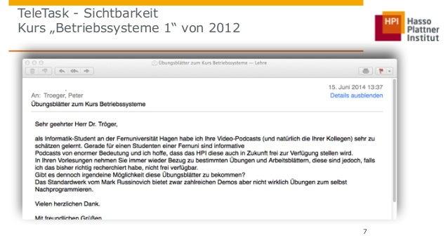 """TeleTask - Sichtbarkeit  Kurs """"Betriebssysteme 1"""" von 2012  7"""