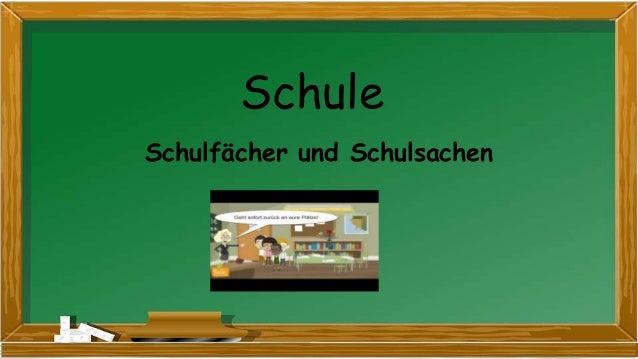 Schule Schulfächer und Schulsachen