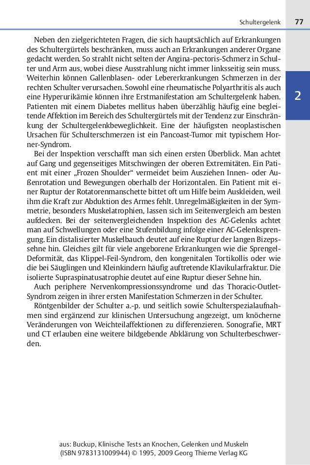 77 2 aus: Buckup, Klinische Tests an Knochen, Gelenken und Muskeln (ISBN 9783131009944) © 1995, 2009 Georg Thieme Verlag K...
