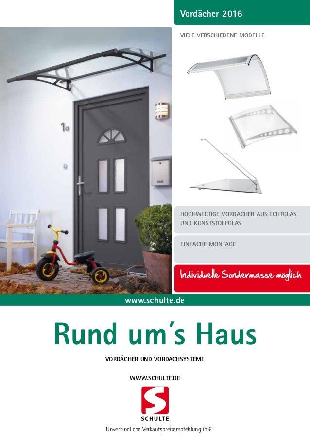 Heimwerker Schulte Vordach Lt-line Xl 2050 Pultbogenvordach Acryl Blau 2050 X 250 X 1420 Mm Fassade