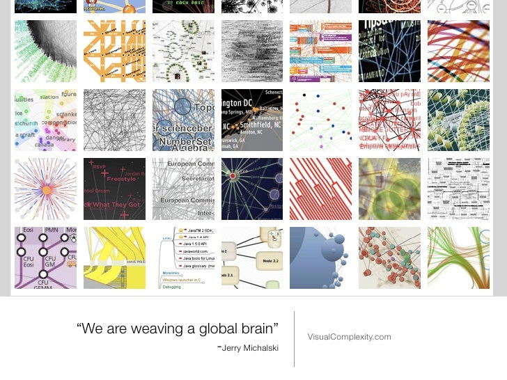 """""""We are weaving a global brain""""         VisualComplexity.com                     -Jerry Michalski"""