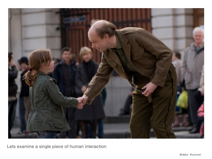 Lets examine a single piece of human interaction                                                   @debs #tummel