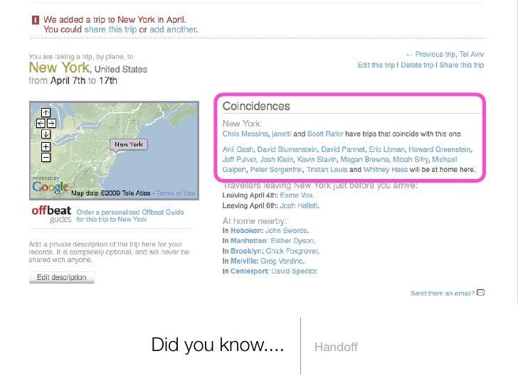 Did you know....   Handoff