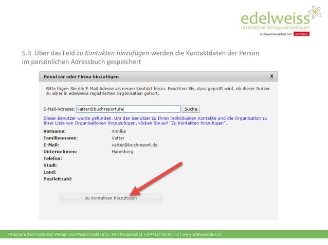 Harenberg Kommunikation Verlags- und Medien GmbH & Co. KG • Königswall 21 • D-44137 Dortmund | www.edelweiss-de.com 5.3 Üb...