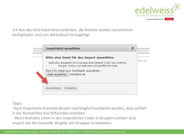Harenberg Kommunikation Verlags- und Medien GmbH & Co. KG • Königswall 21 • D-44137 Dortmund | www.edelweiss-de.com 3.4 Nu...