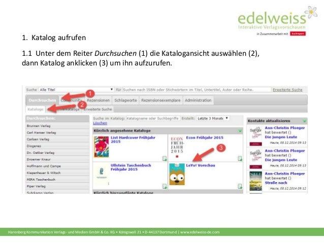 Schulungsunterlagen Buchhändler: Kataloge abonnieren  Slide 2