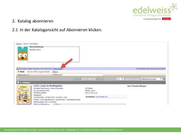 Schulungsunterlagen Buchhändler: Kataloge abonnieren  Slide 3