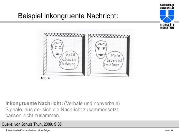 beispiel inkongruente - Kommunikationsquadrat Beispiel