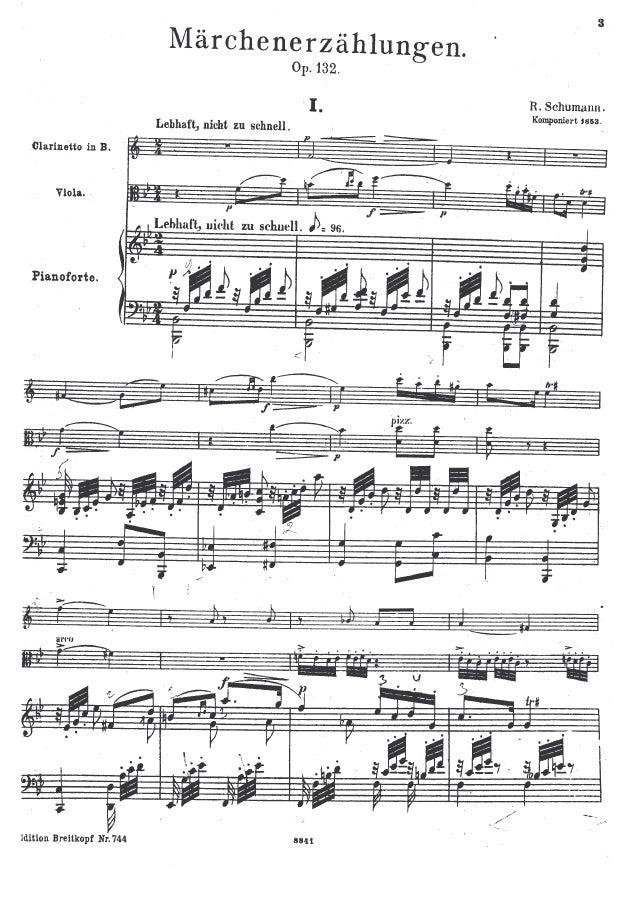 Schumann Marchenerzahlungen/ Piano,clarinete y viola.