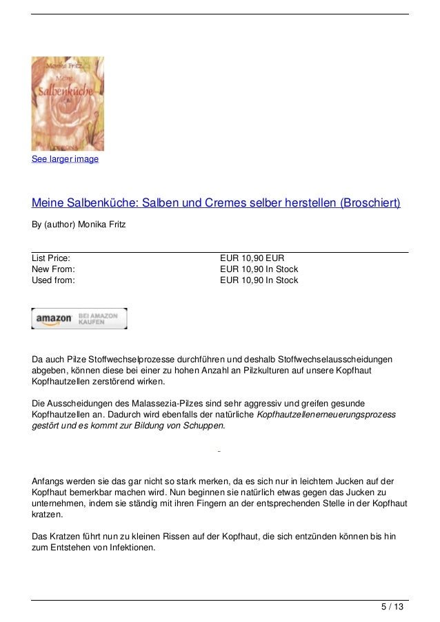 See larger imageMeine Salbenküche: Salben und Cremes selber herstellen (Broschiert)By (author) Monika FritzList Price:    ...