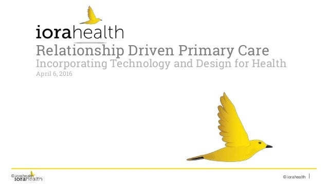 © iorahealth© iorahealth© iorahealth© iorahealth Relationship Driven Primary Care Incorporating Technology and Design for ...