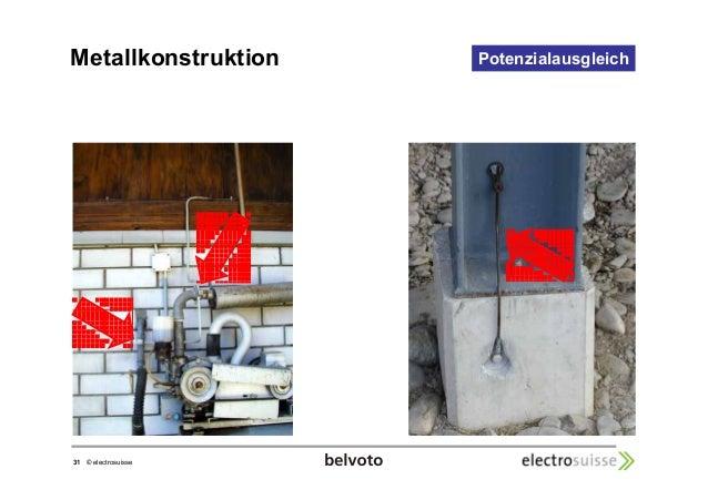 Metallkonstruktion Potenzialausgleich  31 © electrosuisse