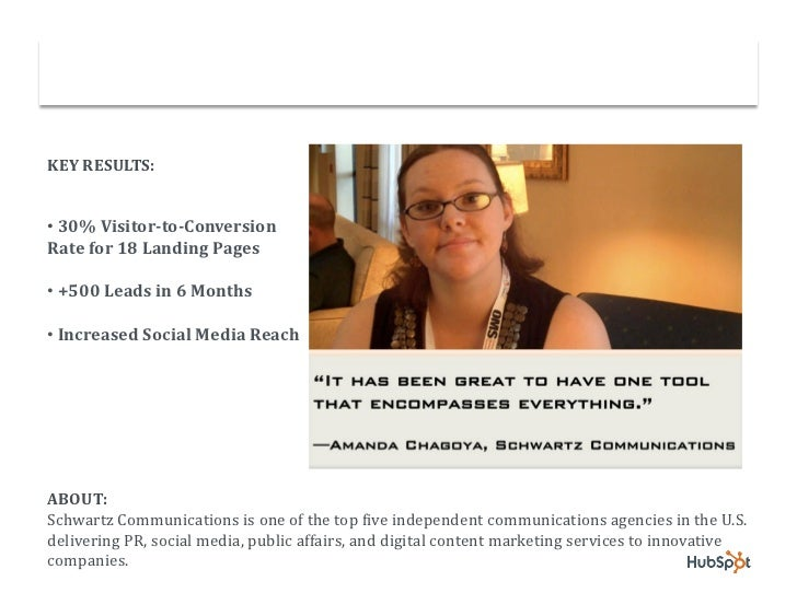 Schwartz Communications Converts More Leads with HubSpot Slide 2