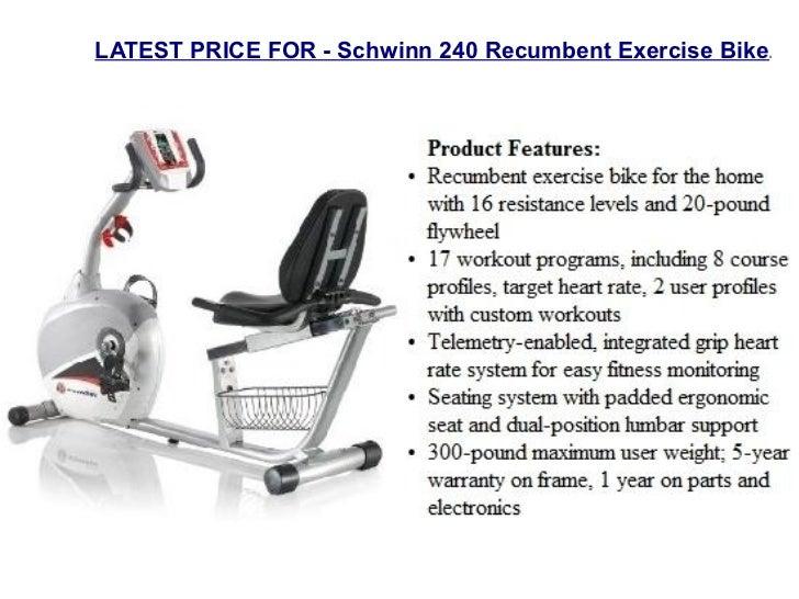 schwinn exercise bikes rh slideshare net Schwinn 240 Recumbent Bike Sale schwinn 240 recumbent exercise bike owner's manual