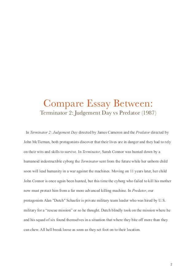 sci fi movie comparison essay  2 compare essay