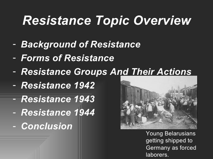 forms of resistance in germany Despite the high risk of being caught by police with the help of their many informers, some individuals and groups attempted to resist nazism even in germany.