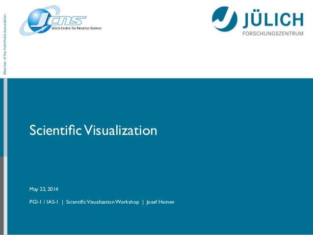 ScientificVisualization May 22, 2014  ! PGI-1 / IAS-1 | ScientificVisualization Workshop | Josef Heinen MemberoftheHelmholt...