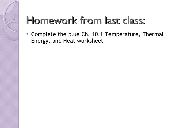 Sci 10 Lesson 2 April 14 Temperature Thermal Energy And Heat