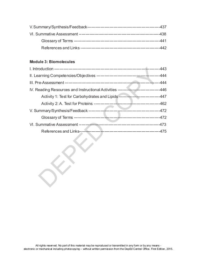 D EPED C O PY V.Summary/Synthesis/Feedback-------------------------------------------------------437 VI. Summative Assessm...