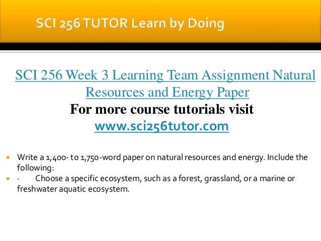 Sci 256 week 3team paper