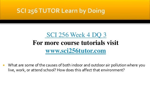 Sci 256 environmental pollution outline
