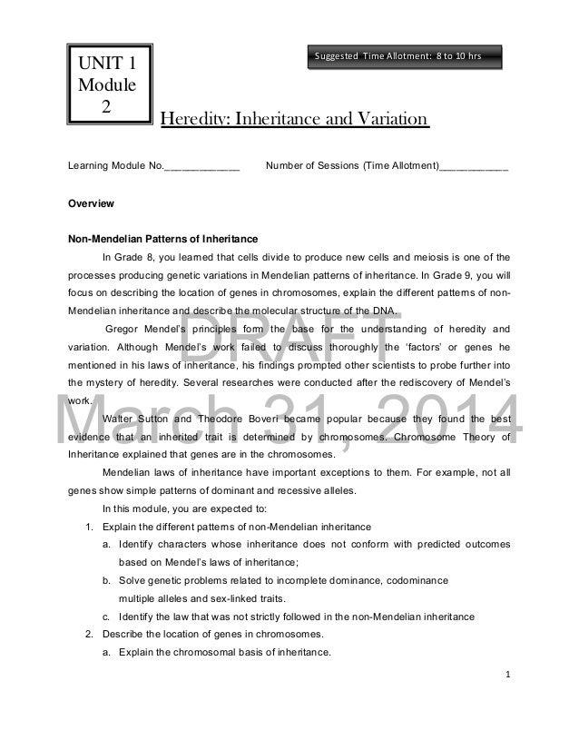 Sci9lmdraft3 140525052115phpapp01 – Non Mendelian Genetics Worksheet