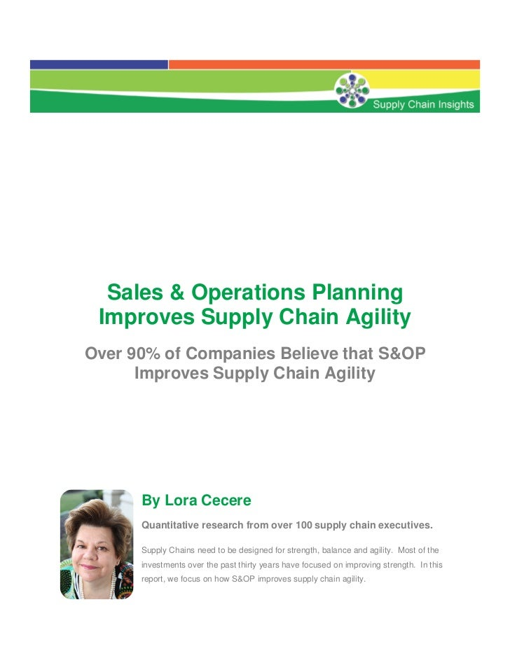 S&OP Planning Improves Supply Chain Agility