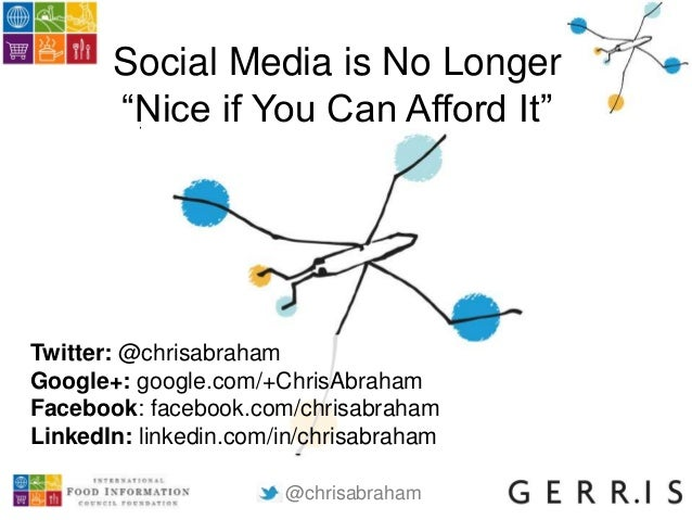 "@chrisabraham Social Media is No Longer ""Nice if You Can Afford It"" Twitter: @chrisabraham Google+: google.com/+ChrisAbrah..."