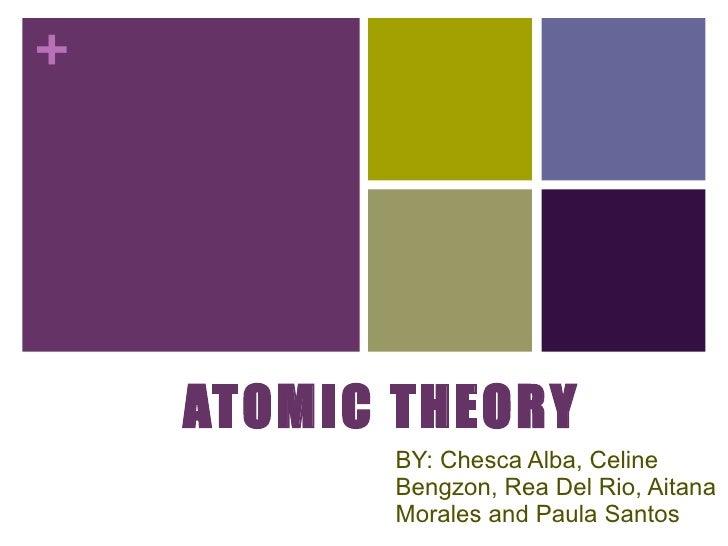 ATOMIC THEORY BY: Chesca Alba, Celine Bengzon, Rea Del Rio, Aitana Morales and Paula Santos
