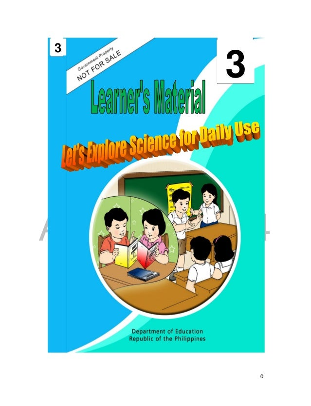 K TO 12 GRADE 3 LEARNER'S MATERIAL IN SCIENCE