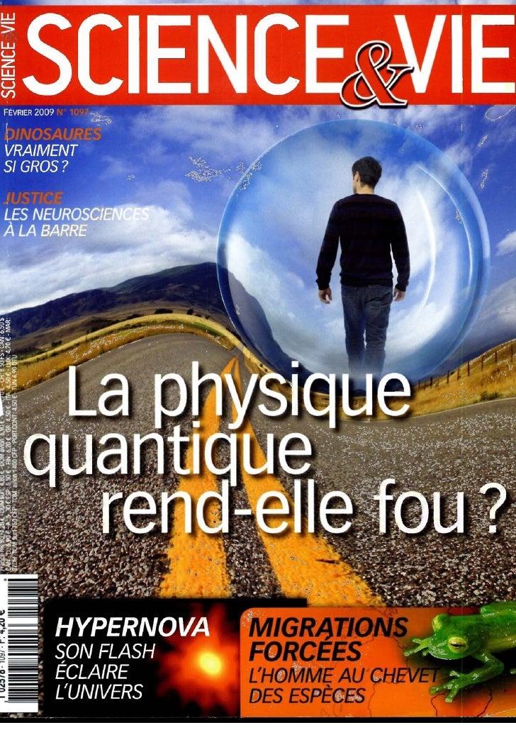Science Et Vie N1097 Fevrier 2009