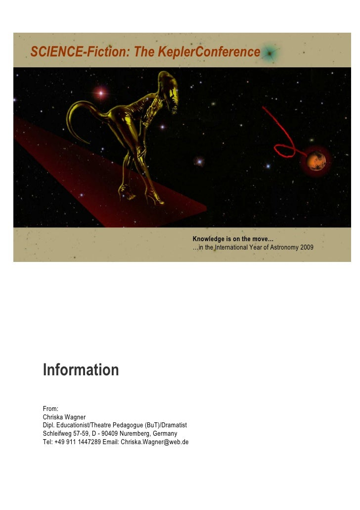 SCIENCE-Fiction: The KeplerConference                                                         Knowledge is on the move…   ...