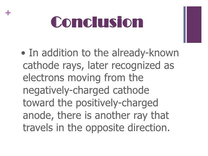 A summary of the cathode ray