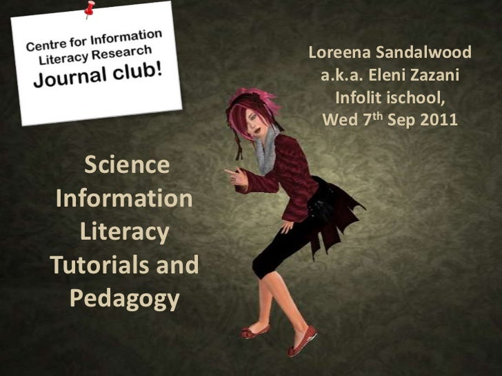Loreena Sandalwood                 a.k.a. Eleni Zazani                   Infolit ischool,                  Wed 7th Sep 201...