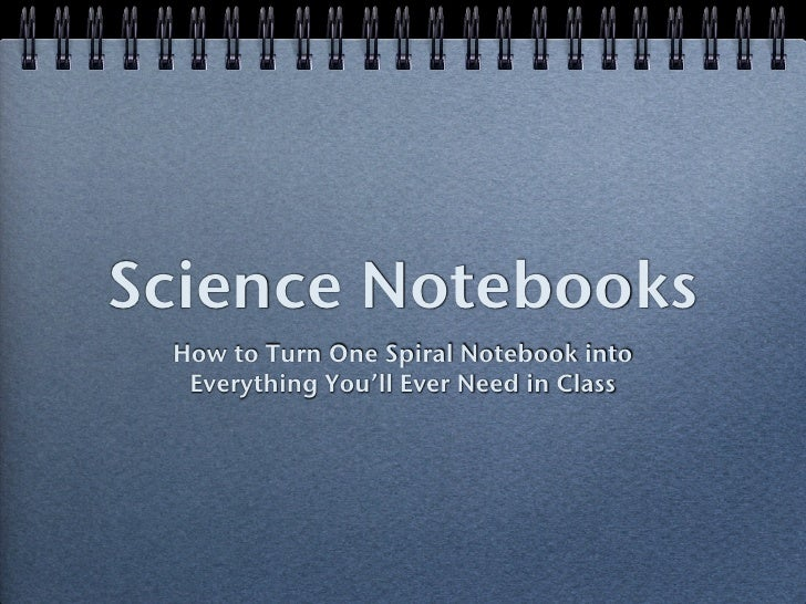 Science Notebooks  How to Turn One Spiral Notebook into   Everything You'll Ever Need in Class