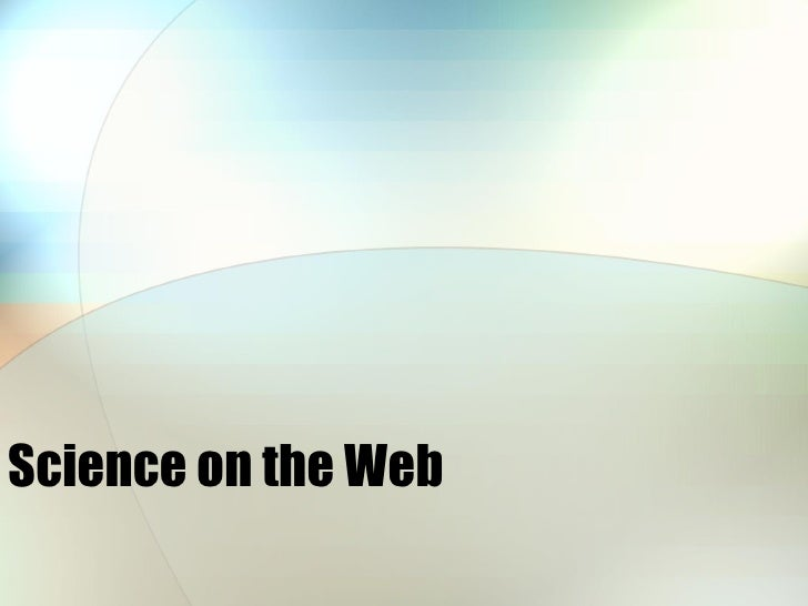 Science on the Web