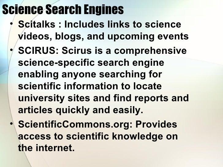 Science On The Web Slide 2