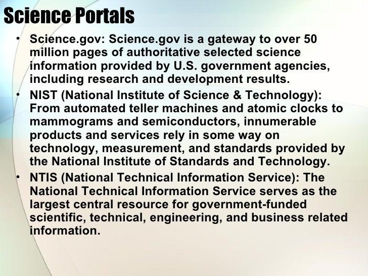 Science On The Web Slide 3