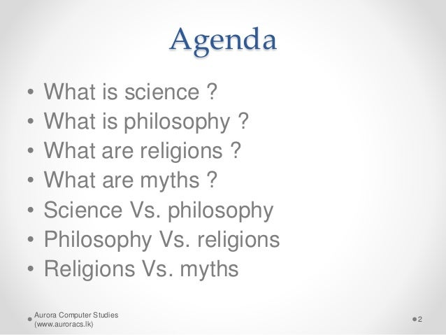 science vs religion in philosophy We discussed these ideas in a few earlier posts, notably creationism, politics, and everything, but that was more than four years ago and it's time we raised the subject again.